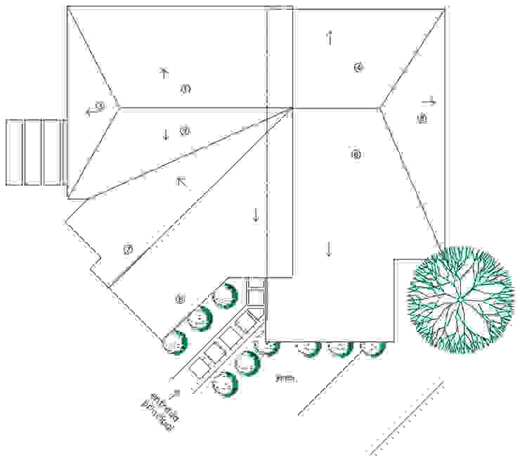 Techo Loft estudio C.A. Casas de estilo rural Cerámico Naranja