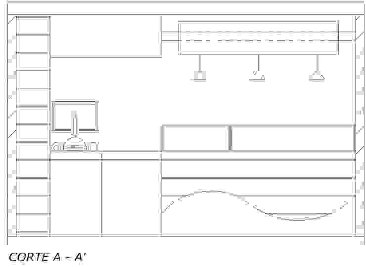 Vista acceso de Loft estudio C.A. Moderno