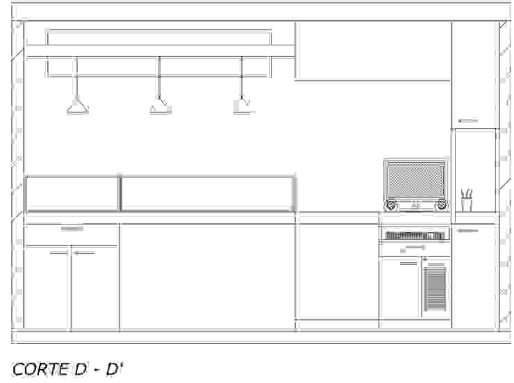 Vista interna atención al cliente de Loft estudio C.A. Moderno