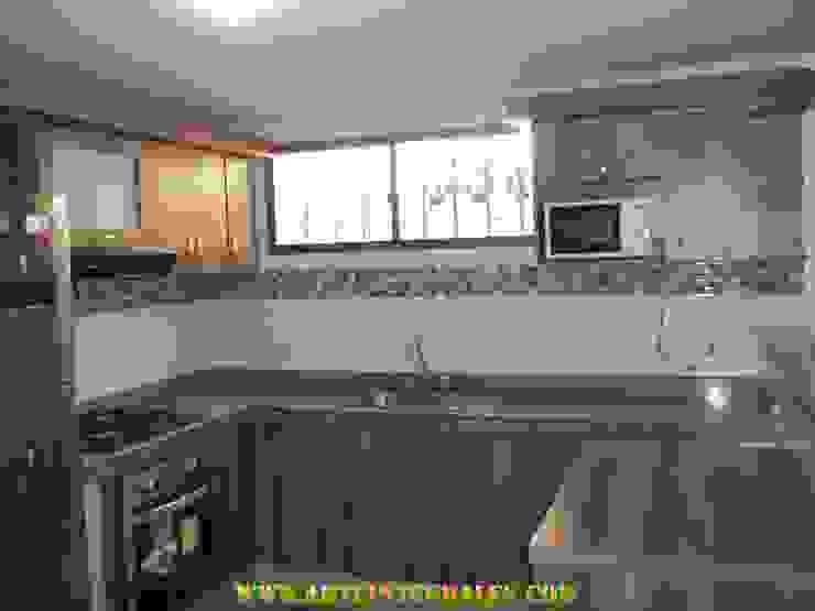 cocina moderna en barranquilla Cocinas de estilo moderno de arteintegrales Moderno Madera Acabado en madera