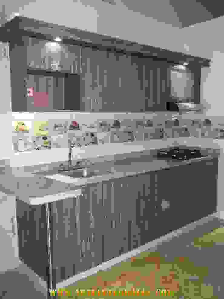 cocina minimalista de arteintegrales Moderno Madera Acabado en madera