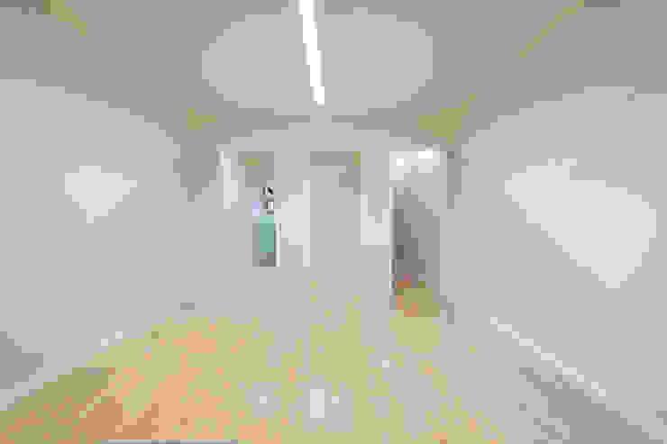 atelier B-L Ruang Keluarga Gaya Eklektik Grey