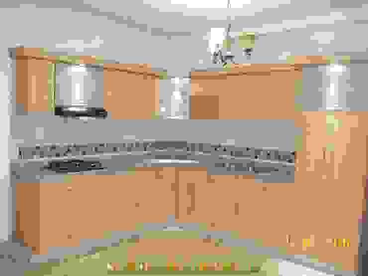 cocina integral de arteintegrales Moderno Madera Acabado en madera