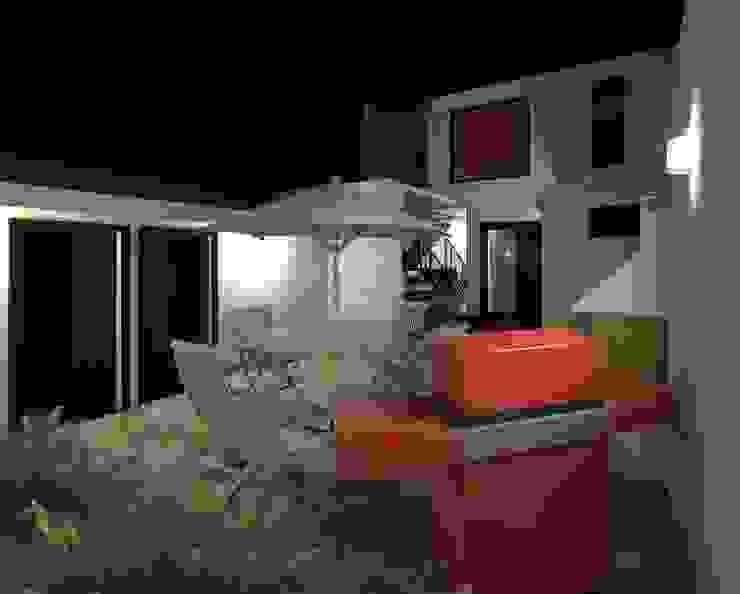 Terraza trasera iluminación nocturna Balcones y terrazas de estilo moderno de Diseño Store Moderno