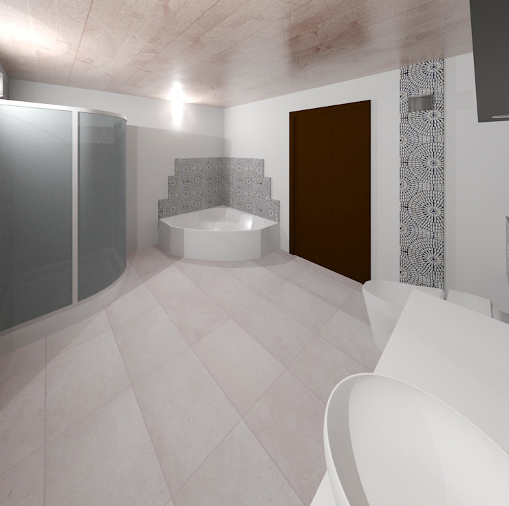 Vista interna sala de baño Baños de estilo moderno de Diseño Store Moderno