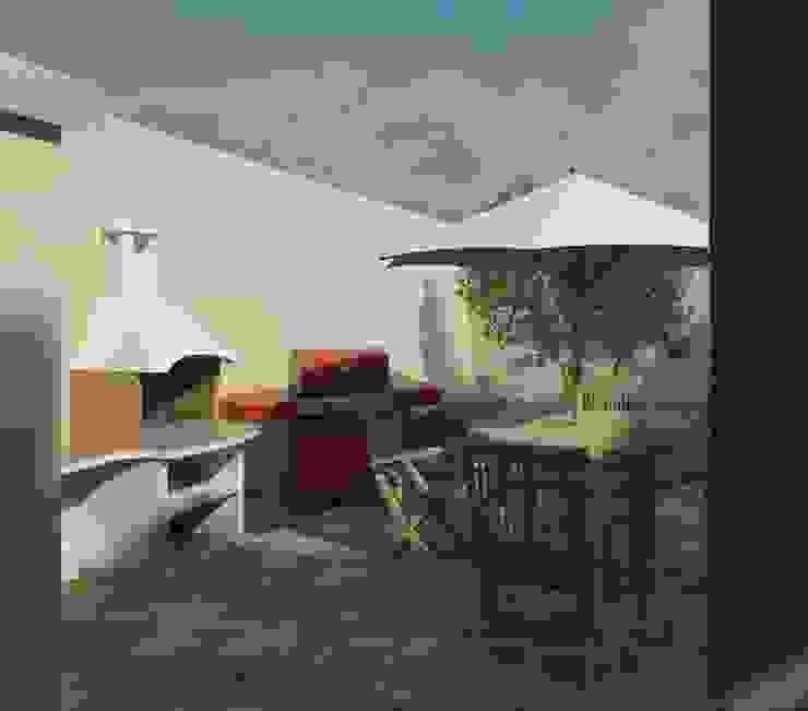 Vista diurna de la terraza Balcones y terrazas de estilo moderno de Diseño Store Moderno