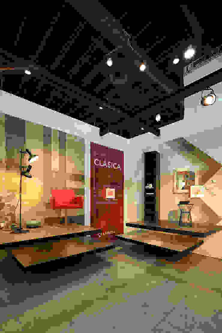 Lamosa Expo CIHAC 2014 Estudios y despachos modernos de Local 10 Arquitectura Moderno Madera Acabado en madera
