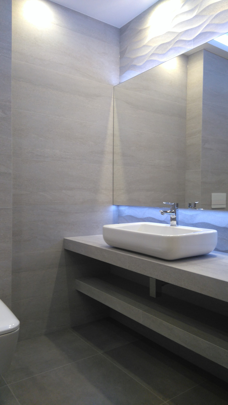 bratbud Modern bathroom Ceramic Grey