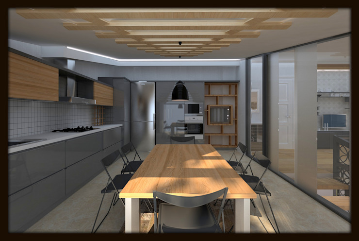 LBC İNŞAAT -76.CADDE ÖRNEK DAİRE Modern Mutfak ESA PARK İÇ MİMARLIK Modern