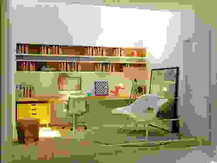 モダンデザインの 書斎 の hola モダン