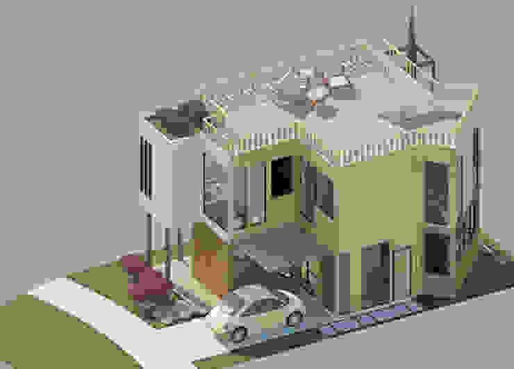 Vista aérea Casas de estilo minimalista de Loft estudio C.A. Minimalista Madera Acabado en madera