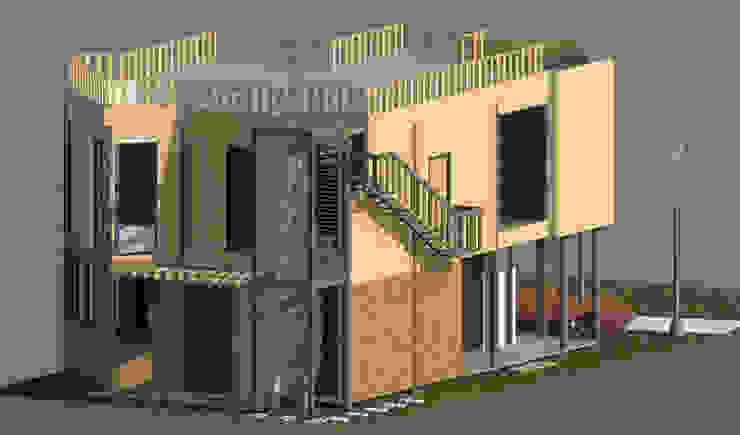 Fachada posterior Casas de estilo minimalista de Loft estudio C.A. Minimalista