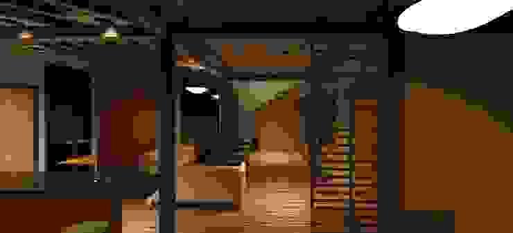 Vista interior de la vivienda Salas de estilo minimalista de Loft estudio C.A. Minimalista Madera Acabado en madera