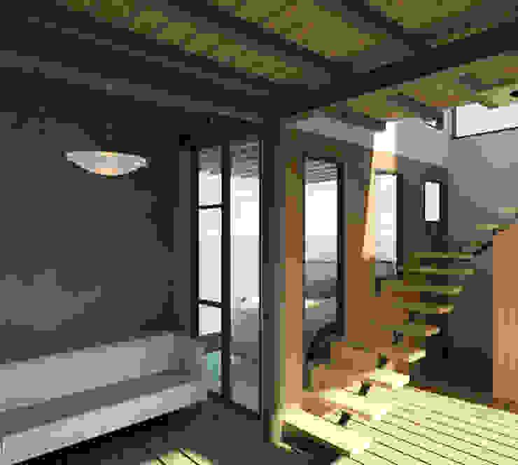Vista interior de la vivienda Pasillos, vestíbulos y escaleras de estilo minimalista de Loft estudio C.A. Minimalista Madera Acabado en madera