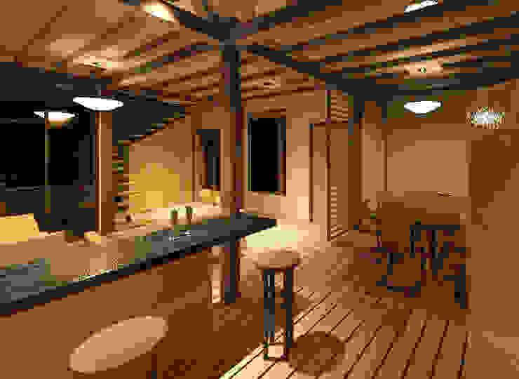 Vista interior de la vivienda Comedores de estilo minimalista de Loft estudio C.A. Minimalista Madera Acabado en madera