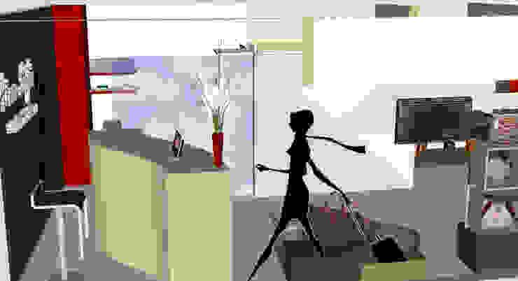 Render del proyecto de Loft estudio C.A. Minimalista