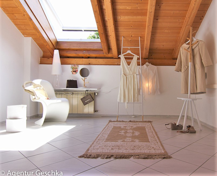 Münchner home staging Agentur GESCHKA Scandinavian style dressing room