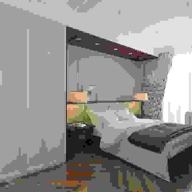 Design interior OLGA MUDRYAKOVA Kamar Tidur Modern Kayu Buatan Brown