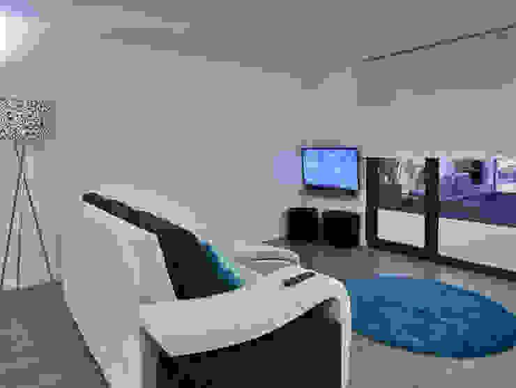 Casa modular Salas de estar modernas por ClickHouse Moderno