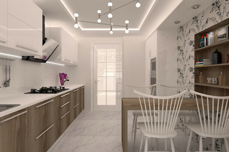 LBC İNŞAAT-AYDINLIKEVLER ÖRNEK DAİRE Modern Mutfak VANETTA KÜCHEN Modern