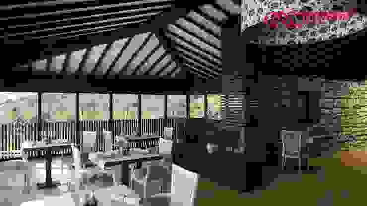 1274-RM-0812 Salas de jantar rústicas por Oliveiros Grupo Rústico