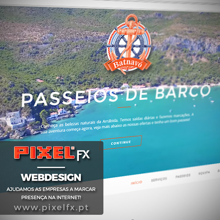 Website BATNAVO.PT - webdesign por PIXELfx