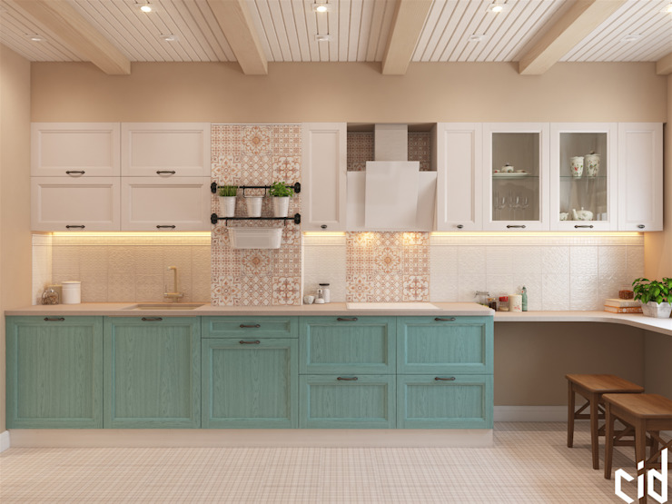 Cocinas de estilo  por Center of interior design,