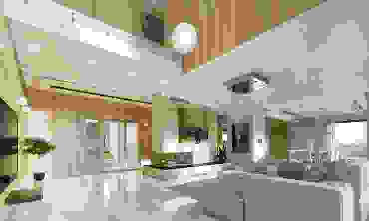 Living room by MG Projekt Projekty Domów,