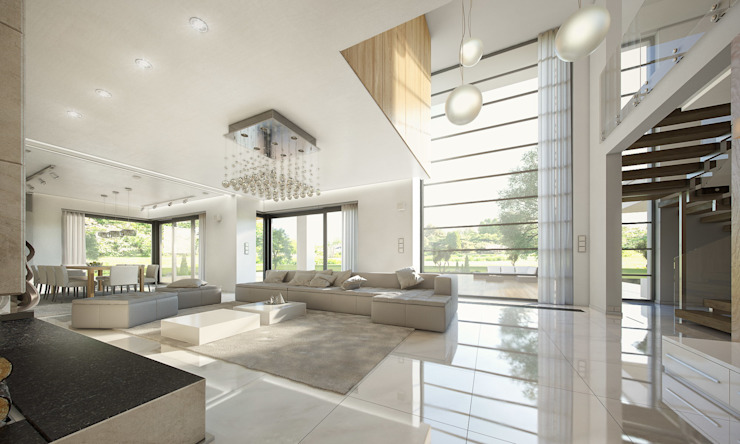 MG Projekt Projekty Domów Modern living room