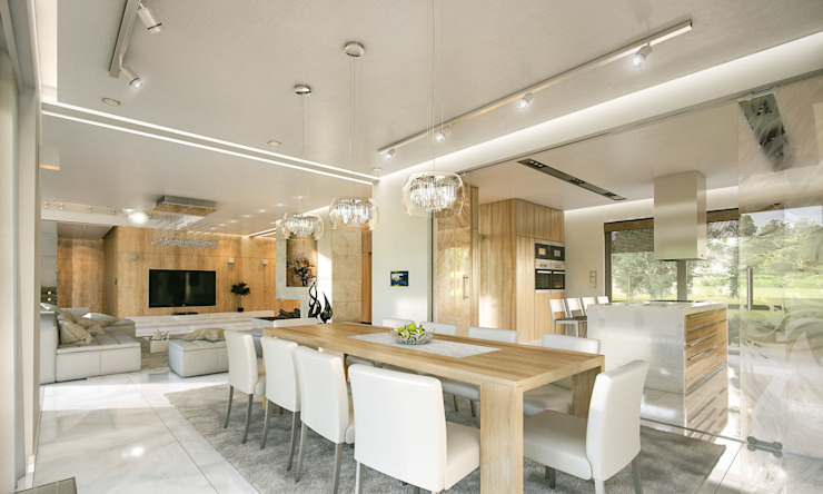 Dining room by MG Projekt Projekty Domów,