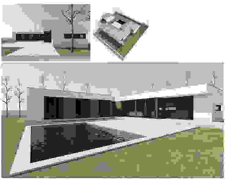 MODIKO - Construção Modular Casas modernas por Modiko Estruturas de Construção, Lda Moderno