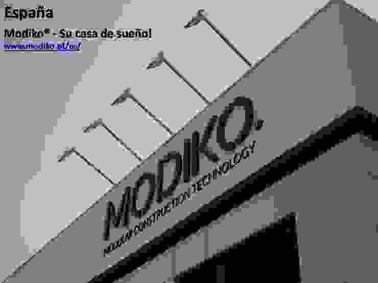 MODIKO – Construção Modular Casas modernas por Modiko Estruturas de Construção, Lda Moderno