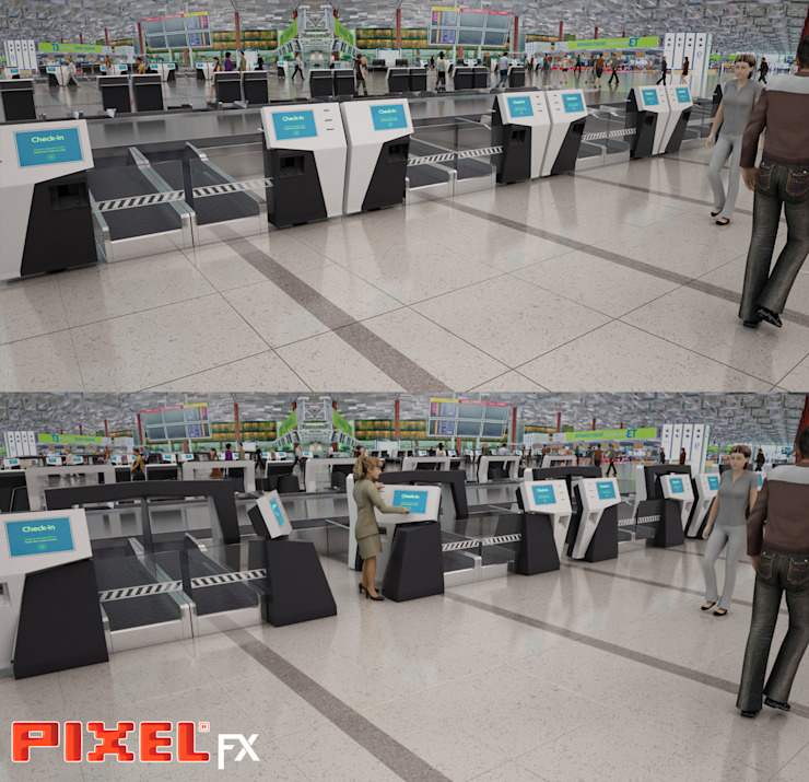 Check-in counter - Design de produto por PIXELfx
