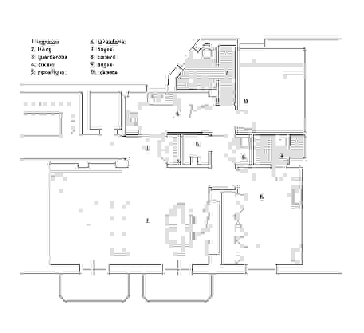 planimetria di progetto di Alessandro Ferro Architetto Moderno