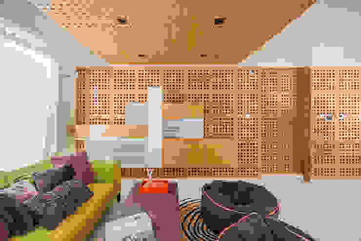 Apartamento 10A Grand Europa - NMD NOMADAS Salas de entretenimiento de estilo moderno de NMD NOMADAS Moderno