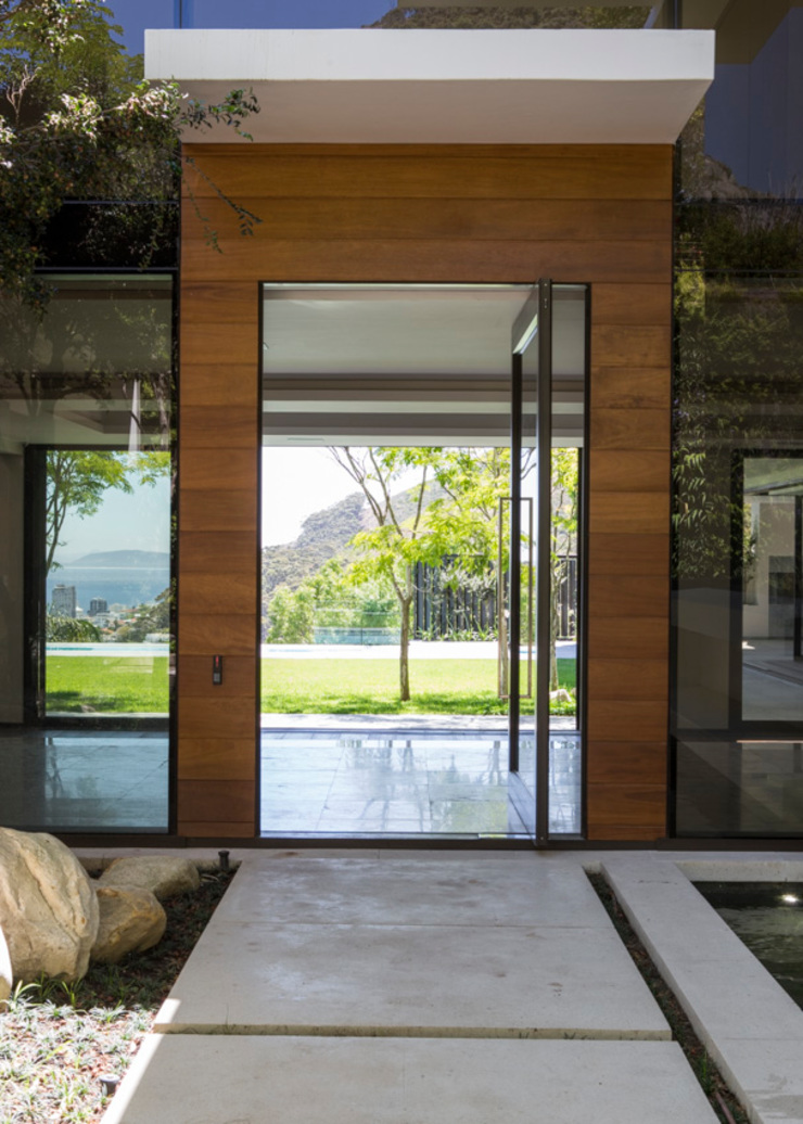 The Front Door to the House Modern home by Jenny Mills Architects Modern
