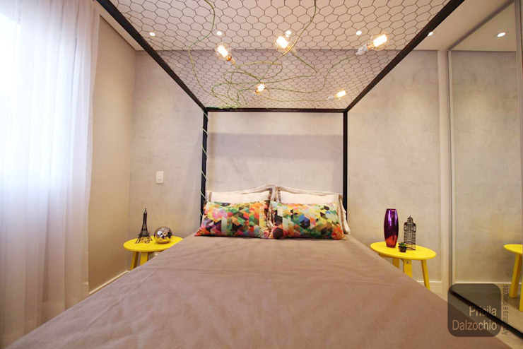 Dormitório casal: Quartos  por Pricila Dalzochio Arquitetura e Interiores,Moderno