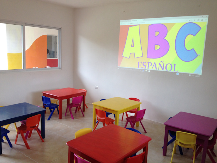 Aula Interior Casas modernas de Manuel Aguilar Arquitecto Moderno