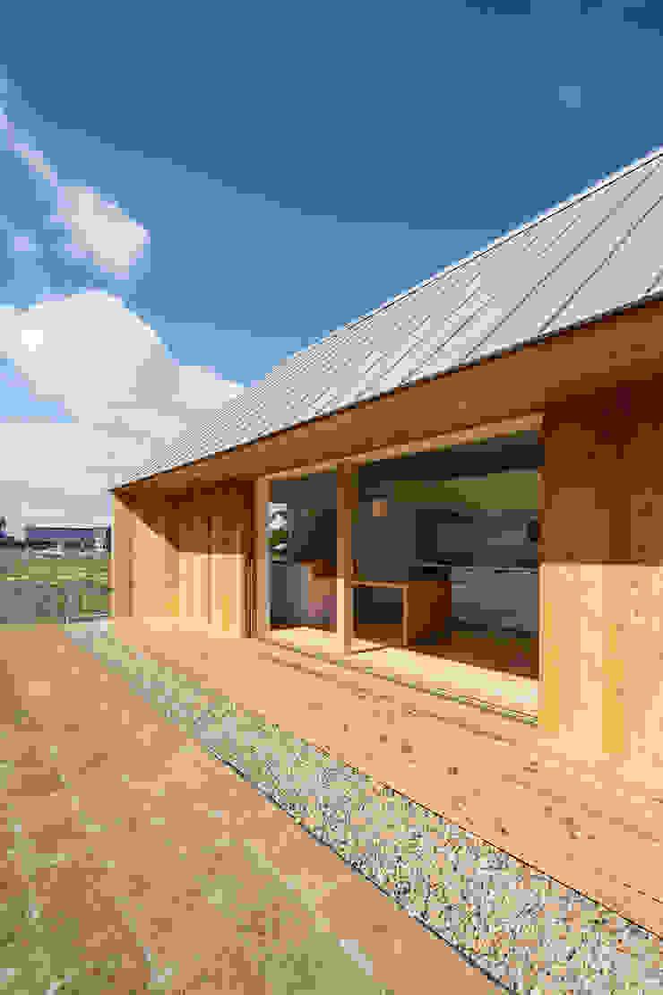 南面開口/冬 オリジナルな 窓&ドア の hm+architects 一級建築士事務所 オリジナル 木 木目調