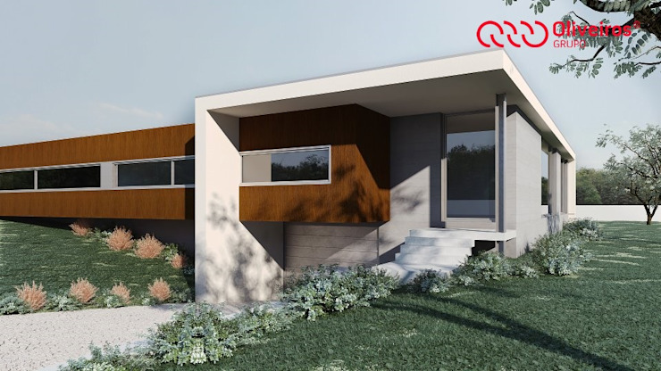 Modern houses by Oliveiros Grupo Modern