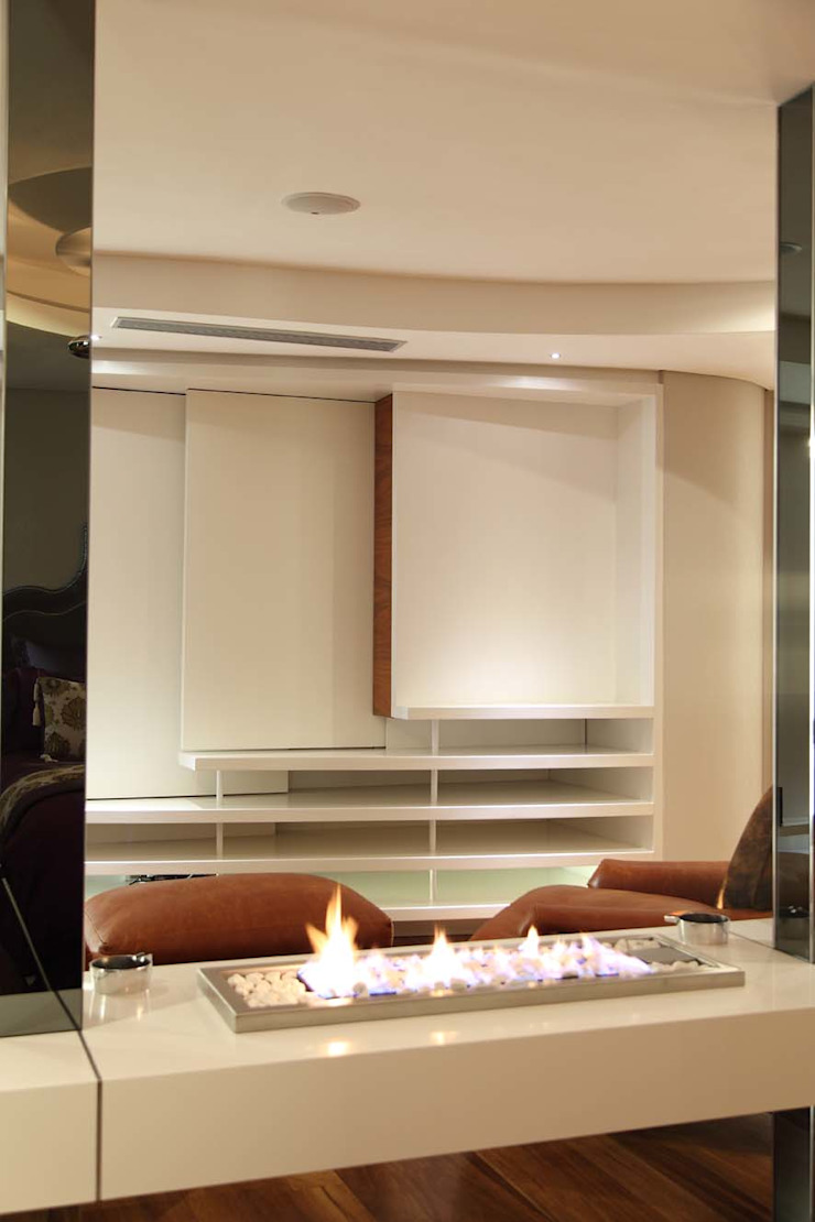 Novent 1000x330mm s/steel drop-in grate with white pebbles by Hyper Lighting and Fires