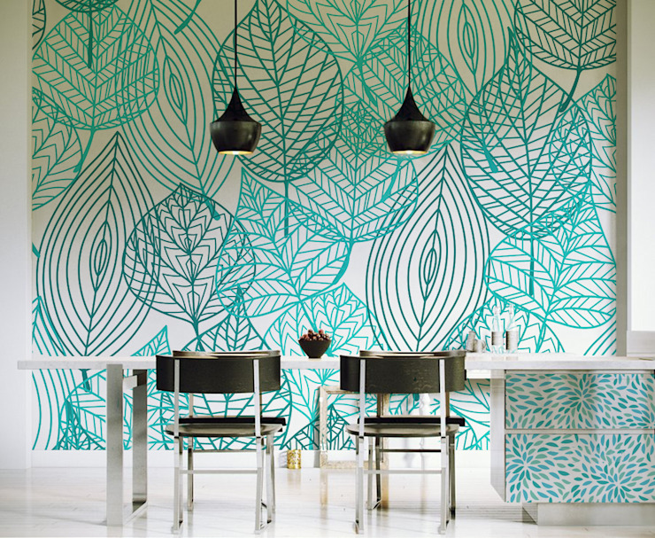 Light Sky Pixers Modern Dining Room Turquoise