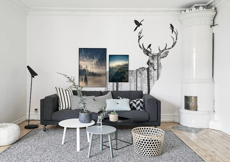 Mysterious Woods Pixers Scandinavian style living room Multicolored