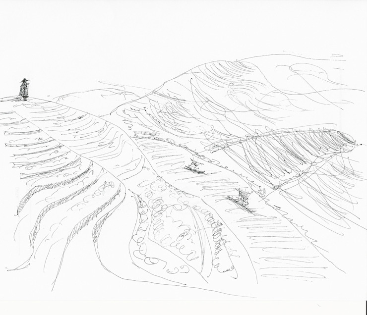 Douro Valley Sketch por RLA | RICHARD LOUREIRO ARCHITECTS