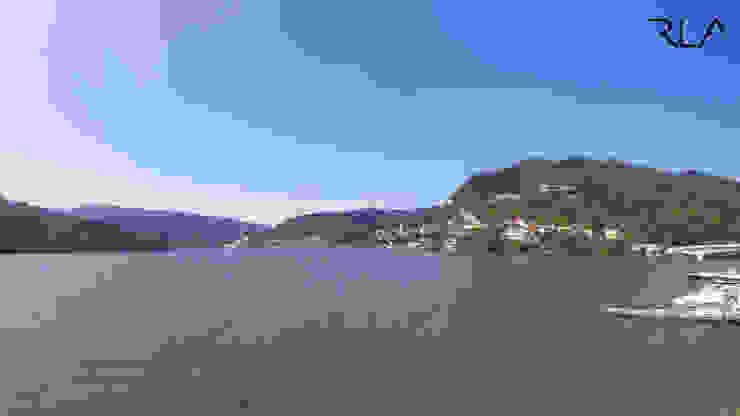 Exterior View from the River por RLA | RICHARD LOUREIRO ARCHITECTS