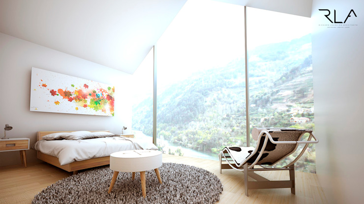 Master bedroom por RLA | RICHARD LOUREIRO ARCHITECTS