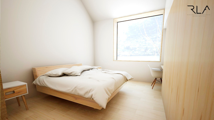 Guest Room por RLA | RICHARD LOUREIRO ARCHITECTS