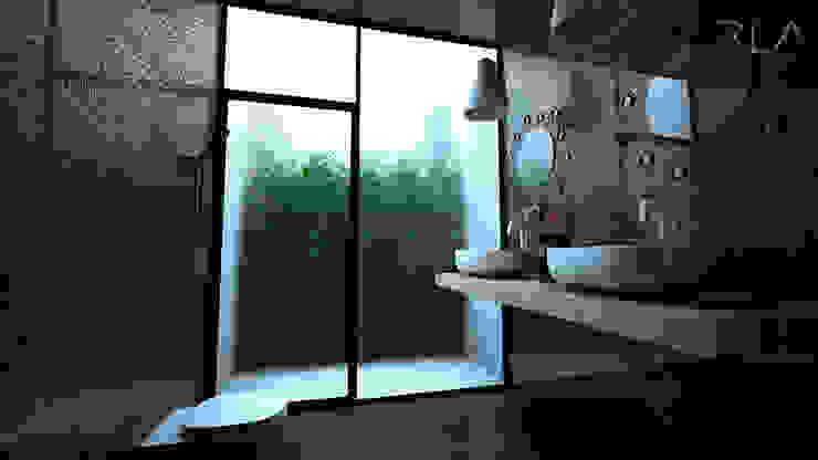 Guest Bathroom por RLA | RICHARD LOUREIRO ARCHITECTS