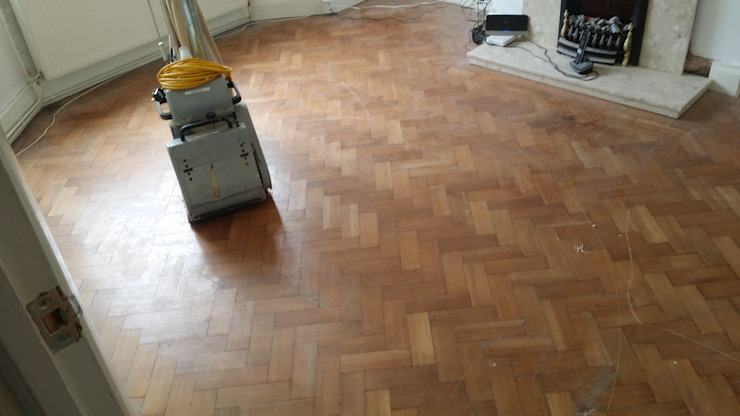 Parquet Blocks With Outworn Surface And Scratches by Floor Sanding Co