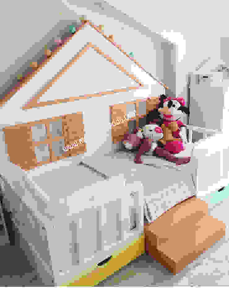 Arkası Çatılı Montessori Yer Yatağı Modern Çocuk Odası MOBİLYADA MODA Modern Ahşap Ahşap rengi
